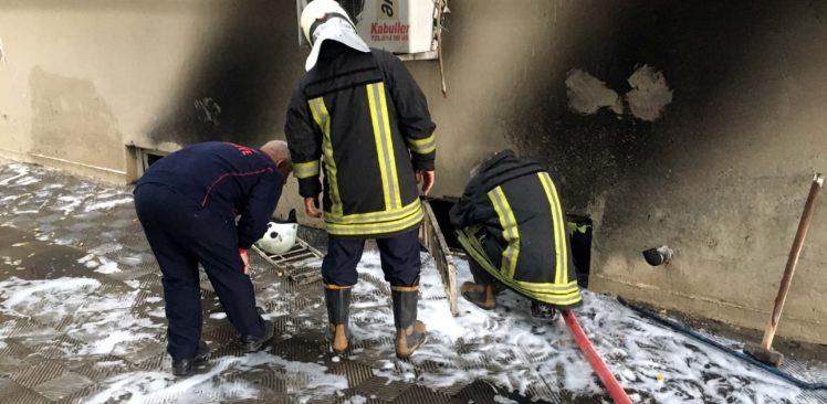 Okulun Kazan Dairesindeki Yangın Korkuttu