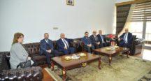 Çevre İlçelerin Belediye Başkanlarından Vali Coşkun'a Ziyaret