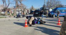 Motosikletli Jandarma Timi İle Otomobil Çarpıştı