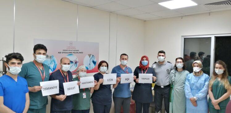 Osmaniye Devlet Hastanesinde 1 Günde  1228 Covid-19 Aşısı yapıldı