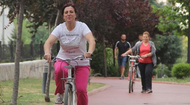 Kadınlar istedi bisiklet sürme kursu açıldı